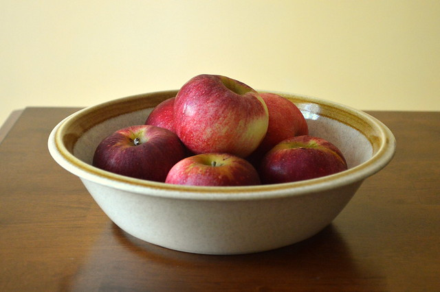 Bowl of local apples