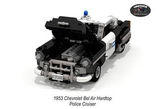 Chevrolet Bel Air Hardtop Police Cruiser - 1953 (Linotopia)