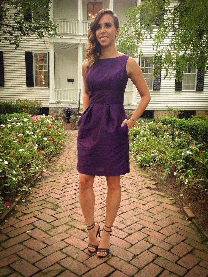 alfred sung bridesmaid dress. purple bridesmaid dress. southern wedding. tibi sandals. va darling. andréa viza. dc blog. dc blogger. dc fashion. 2