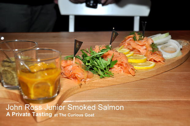 John Ross Smoked Salmon Private Tasting at The Curious Goat 1