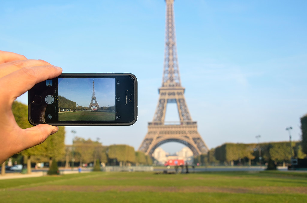 Eiffel Tower on iPhone