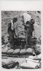 Marines Build an Ammunition Bunker, 1969