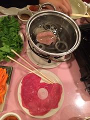 raw beef and vinegar beer mixture