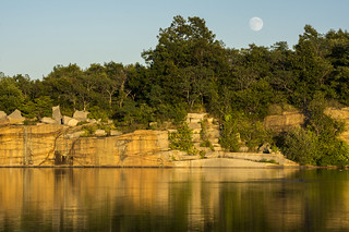 Moonrise over the quarry