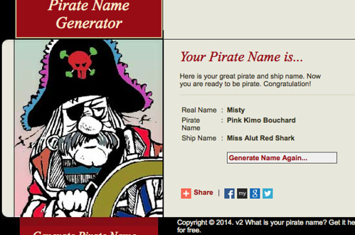 Talk Like a Pirate Day | Little Room Under the Stairs