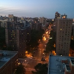 Sunset looking north over Harlem