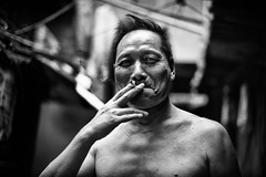 smoking his way through the last hot summer days~ Shanghai