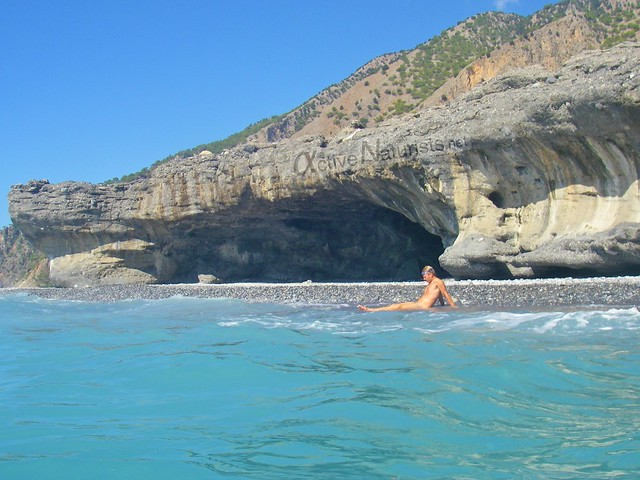 naturist 0007 Agia Roumeli beach, Crete, Greece