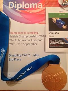 British Championships 2014 - Dan medal