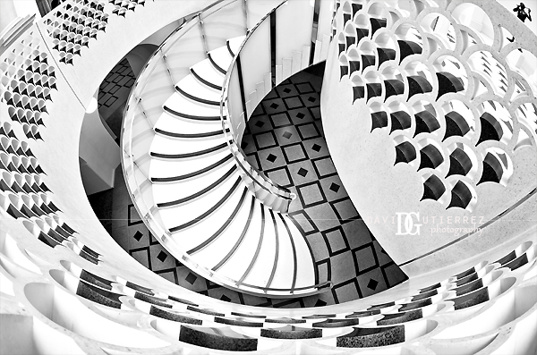 London Spiral Stairs, Tate Britain Interior - David Gutierrez Photography, London Photographer