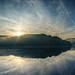 Sonnenaufgang an der Obernautalsperre