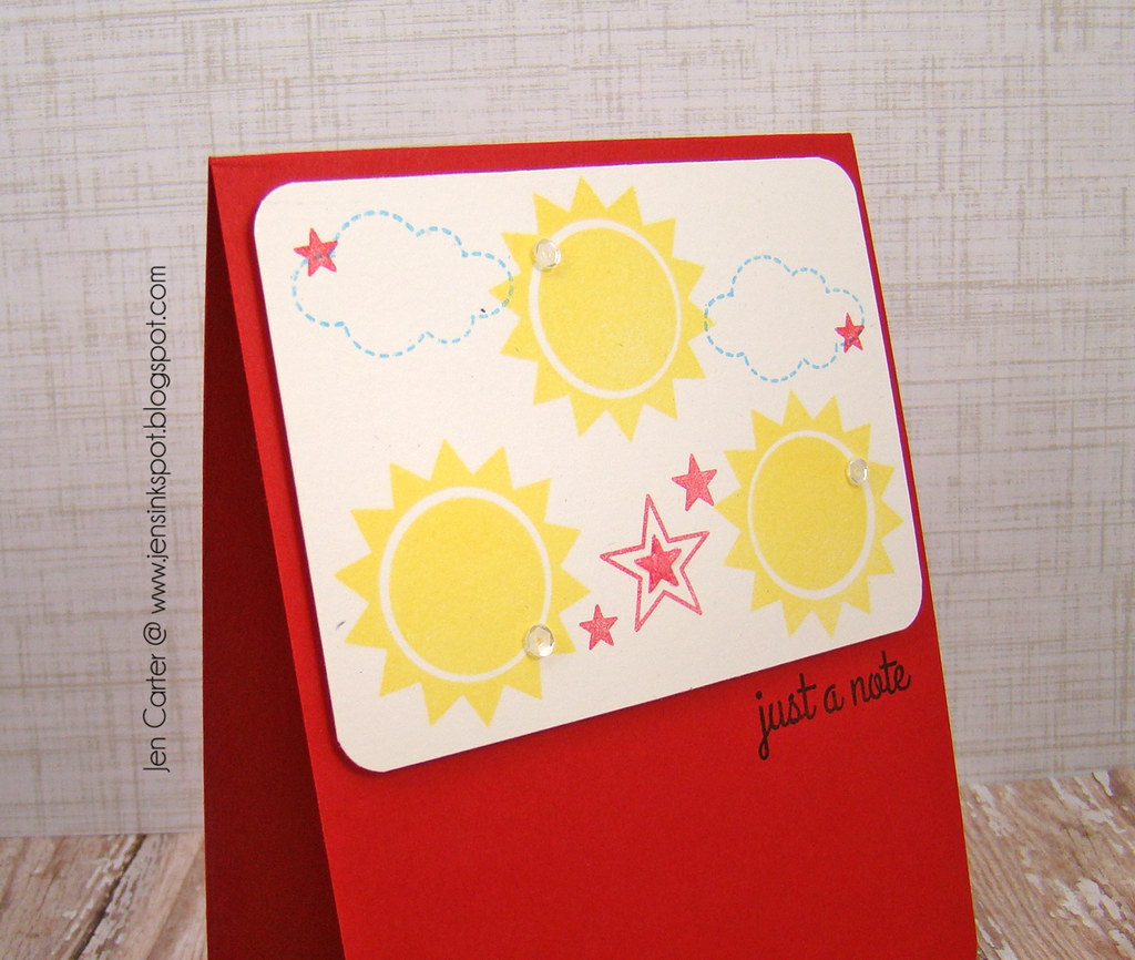 Sunshine Note Closeup by Jen Carter