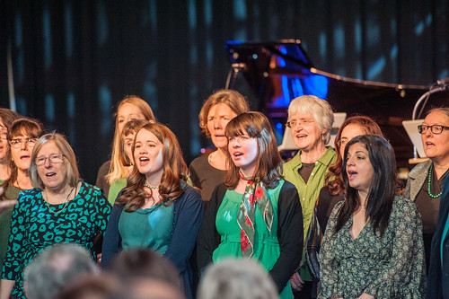 Cecil Sharp House Choir performing at Tapping the Source, Southbank Centre, February 2013, photo Ben Larpent