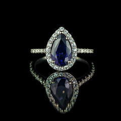Pear Shaped Sapphire Engagement Ring