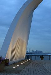 Staten Island 9-11 Memorial at Dusk - Left-Hand Side