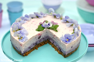 Gluten free blueberry & raspberry cheesecake
