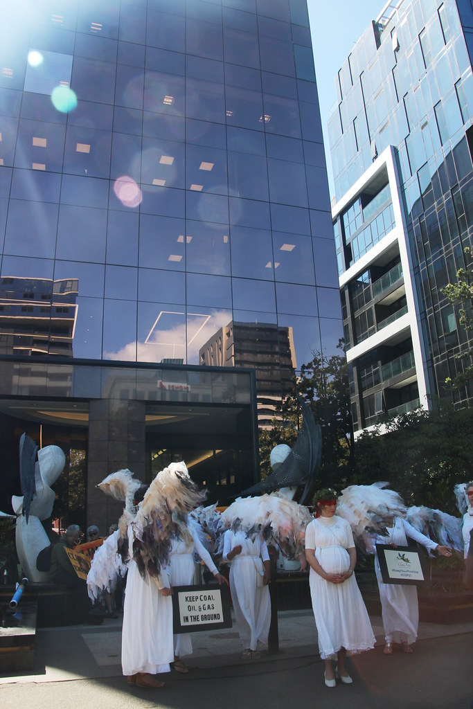 Climate Guardian Angels outside US consulate Melbourne