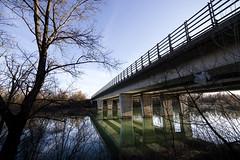 A bridge over a calm water