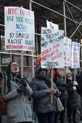 Chilly Immigration Rally Downtown Manhattan