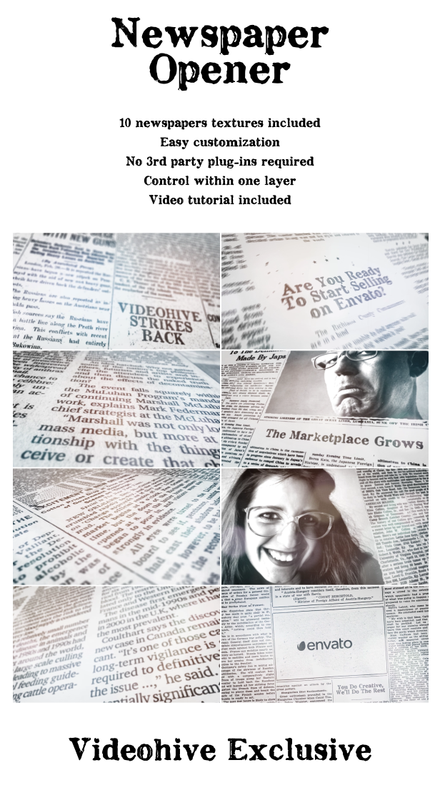 Newspaper Opener A Dynamic Logo Reveal By Vcgmotion Videohive