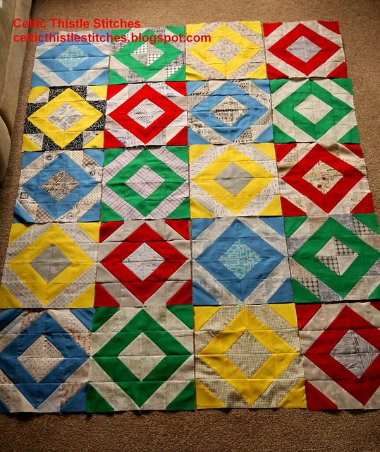 Fat Stash Brit Bee quilt layout