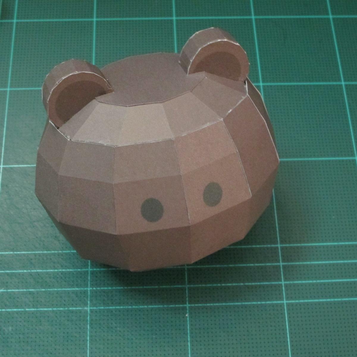 วิธีทำโมเดลกระดาษหมีบราวน์ชุดบอลโลก 2014 ทีมบราซิล (LINE Brown Bear in FIFA World Cup 2014 Brazil Jerseys Papercraft Model) 028