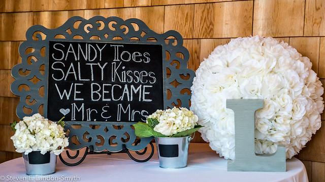 Sandy Toes, Salty Kisses, We Became Mr. & Mrs.