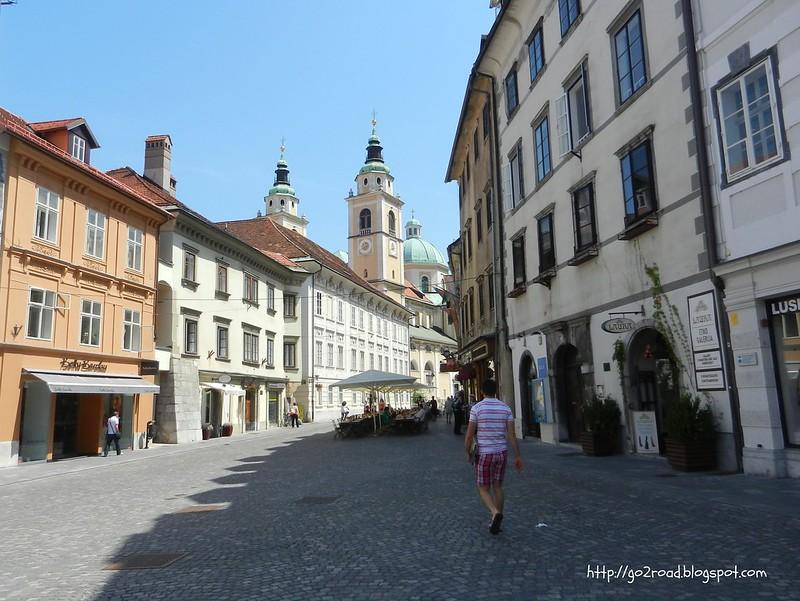 Любляна, улицы старой части