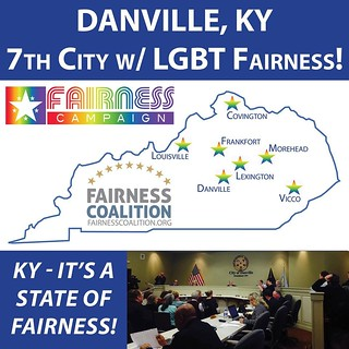 Fairness Coalition image celebrating Danville's passing a Fairness ordinance