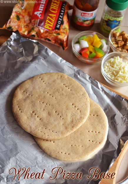 Whole Wheat Pizza Base Recipe