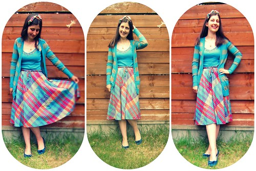 The madras rainbow dress again