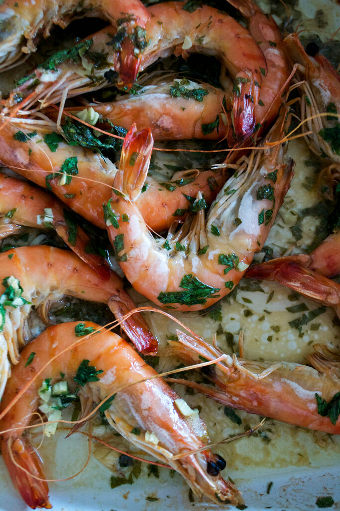 roasted prawns aip paleo with lime coriander and parsley