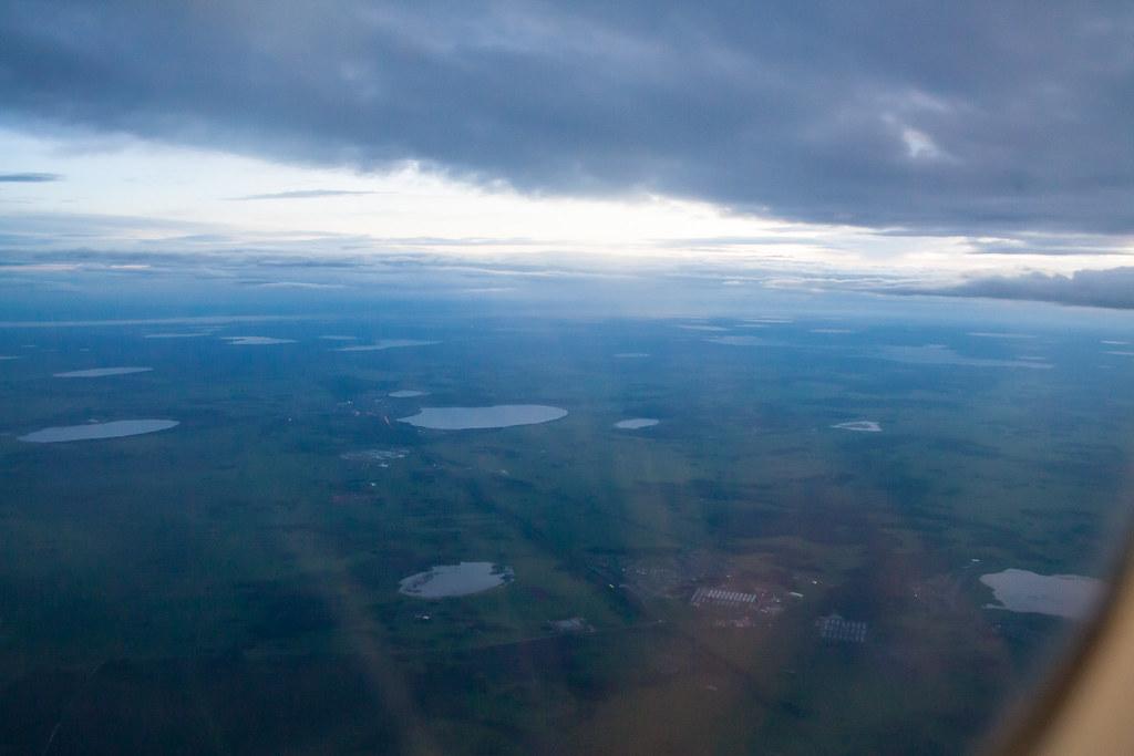 Москва. Полет обратно. В Челябинской области более 3748 озер