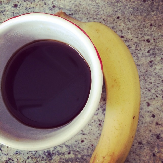 Day 28, #whole30 - breakfast (coffee & banana)