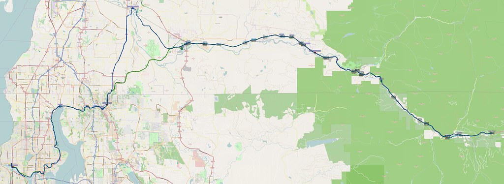 Map: 154 miles