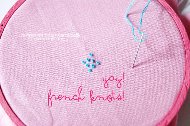 yay french knots