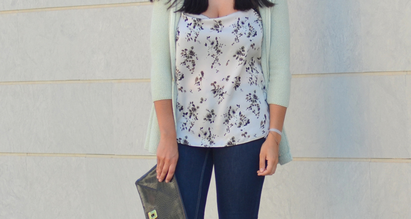 florenciablog working girl mint inspiration fashion blogger spain clutch zara look  (3)
