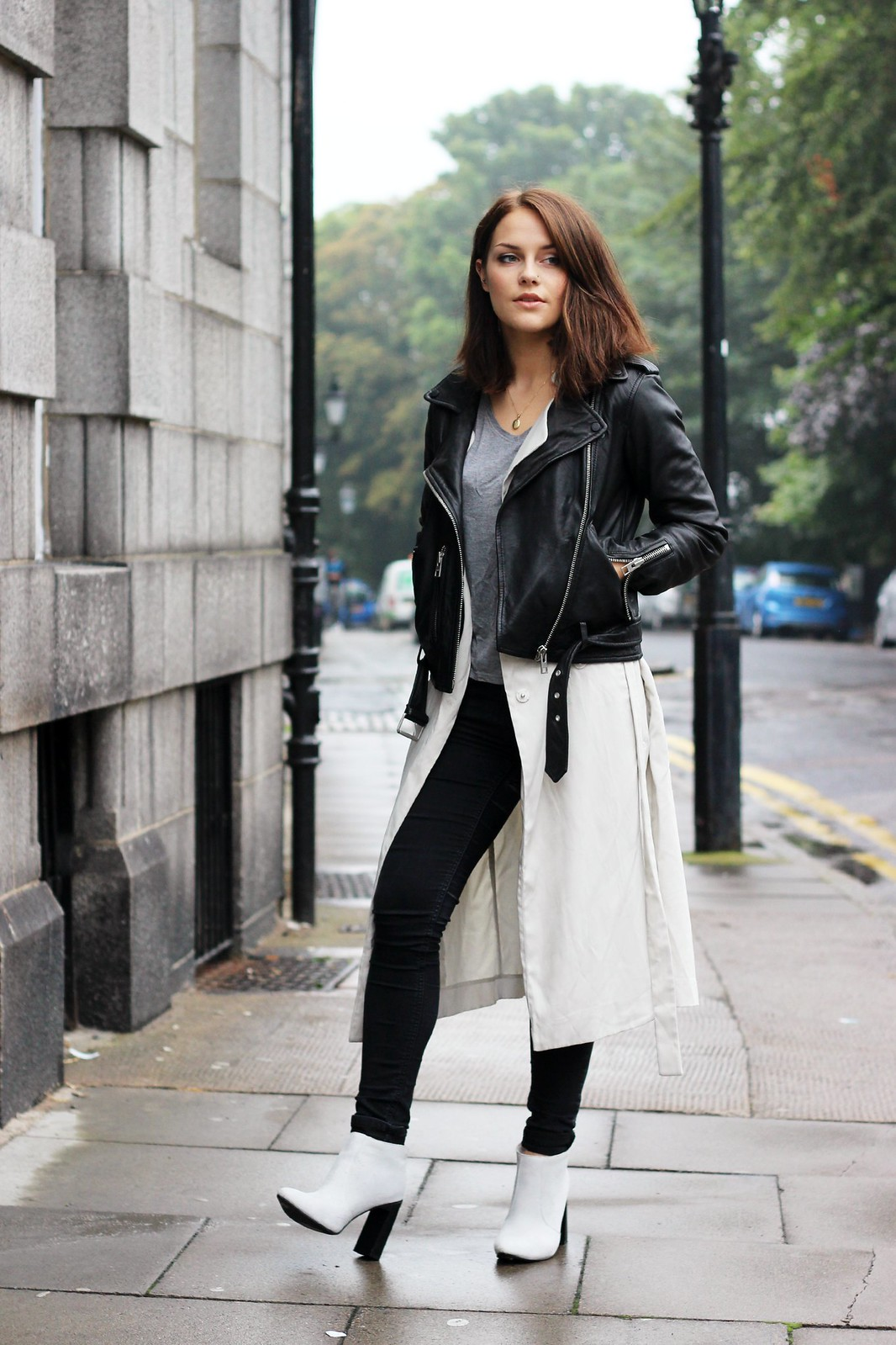 All Saints leather biker jacket  2