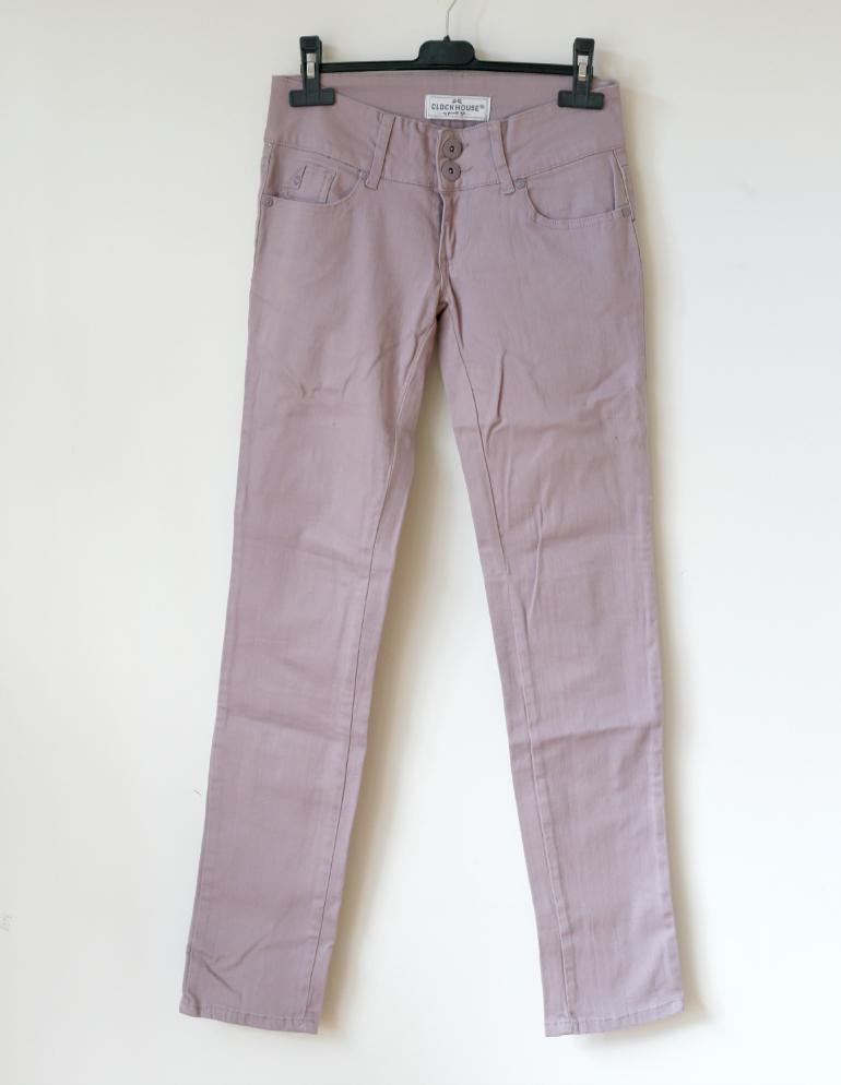 c&a broek paarse broek clockbhouse heupbroek skinny jeans
