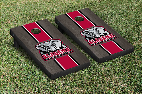 Alabama Crimson Tide Cornhole Game Set Onyx Stained
