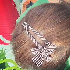 Rockin' a preppy barrette today to celebrate my haircut.