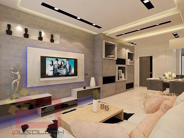 Hdb bto 4 room contemporary industrial theme costa ris for 4 room bto interior design
