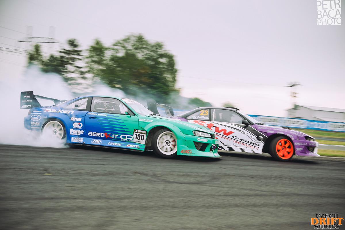 Czech Drift Series, CDS, Drift Allstars, Autodrom Sosnová, Česká Lípa, Nissan S14 Silvia, James Deane, Bartosz Stolarski, Brt, STW Drift Team, LS2,