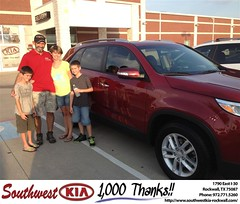 #HappyAnniversary to Jamie White on your 2014 #Kia #Sorento from Kathy Parks at Southwest KIA Rockwall!