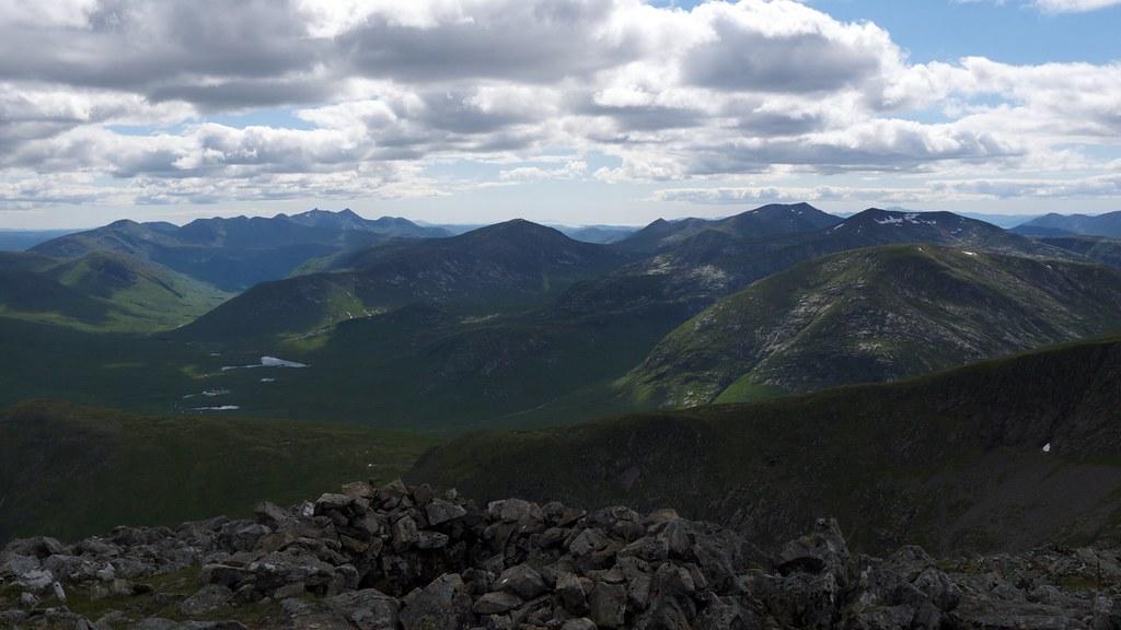 The Ben Starav range from Stob Ghabhar
