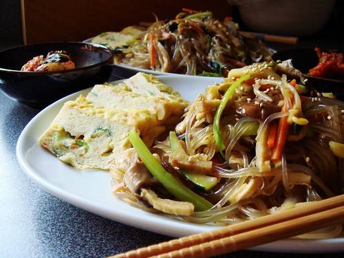 Japchae: Korean Stir-Fry Noodles