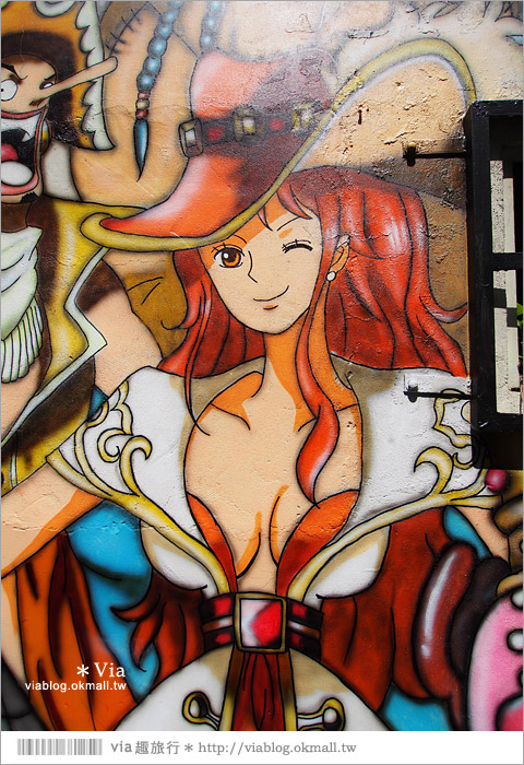 【台中海賊王彩繪】台中新遊點!小巷裡出現海賊王彩繪牆~ONE PIECE迷必訪!13