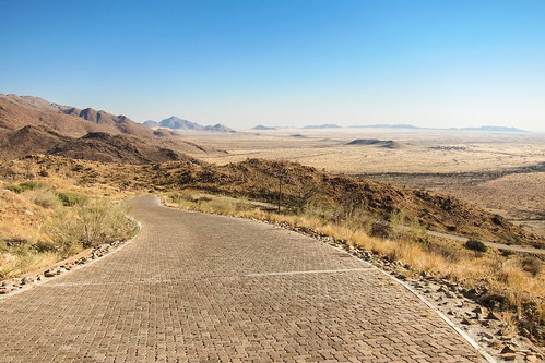 Un passage plus pentu en Namibie : Spreetshoogte
