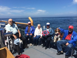 Members of the Korean War Veterans Association Chapter 176 held a wreath-laying ceremony aboard the Coast Guard Barracuda approximately three miles off Humboldt Bay Sunday, July 27, 2014. July 27 marked 61 years since the cessation of hostilities that ended the Korean War in 1953. (U.S. Coast Guard photo)