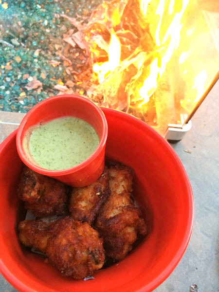 Chicken Wings, Indian Raita yogurt dipping sauce